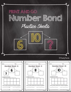 Number Bond - Practice Sheets | eureka math | Pinterest | Facebook y ...