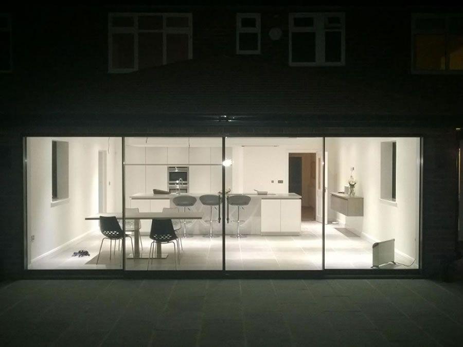 Frameless Sliding Patio Door System Slimline Glazing Aluminium