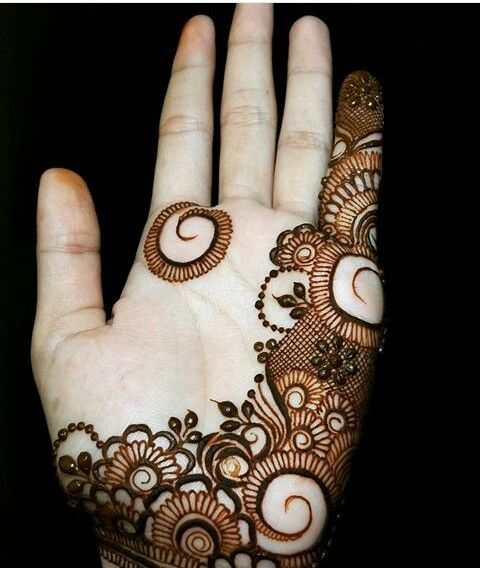 Modern Mehndi Front Hand Design Simple
