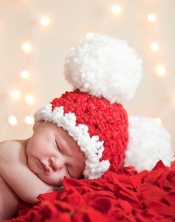 aa096412c3323 Bambino natale cappello bambino Santa cappello di TSBPhotoProps. Bambino  natale cappello bambino Santa cappello di TSBPhotoProps Baby Christmas Hat  ...