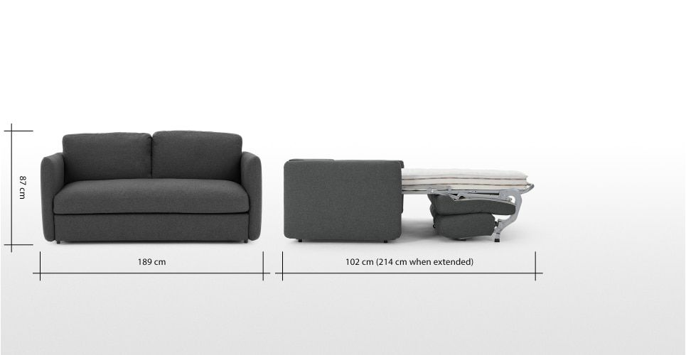 Fletcher 3 Seater Sofa Bed With Memory