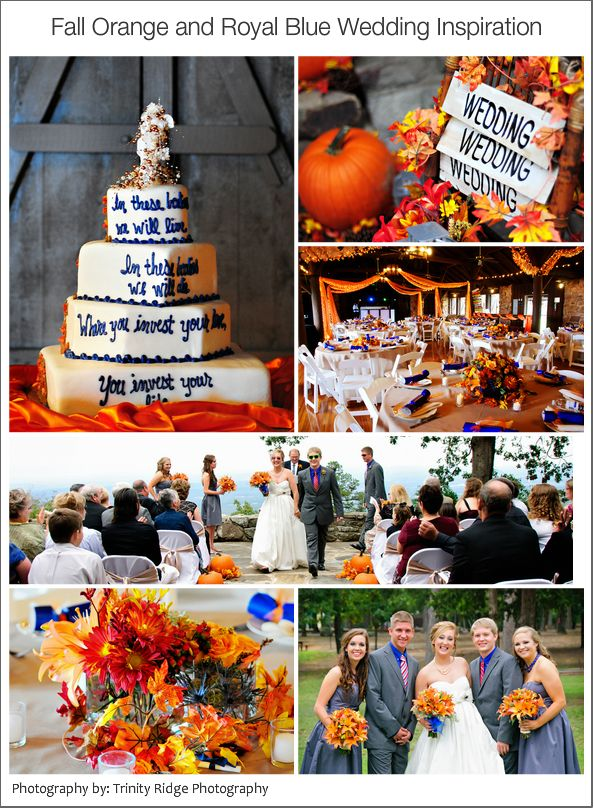 Color palette for autumn wedding decor