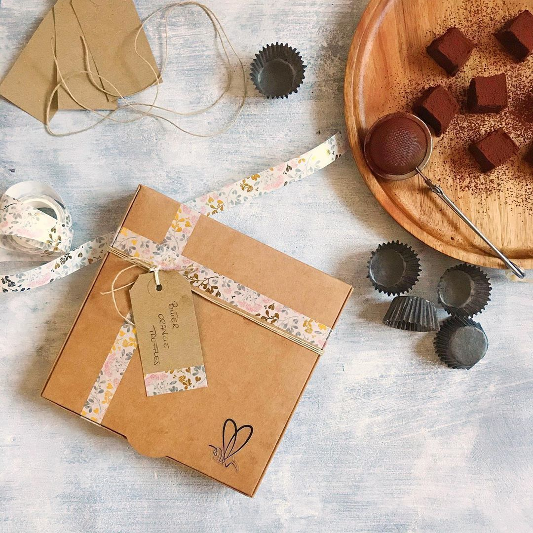 Homemade chocolates and sweets lovely personalised gift boxes  Our bitter ora  Trend