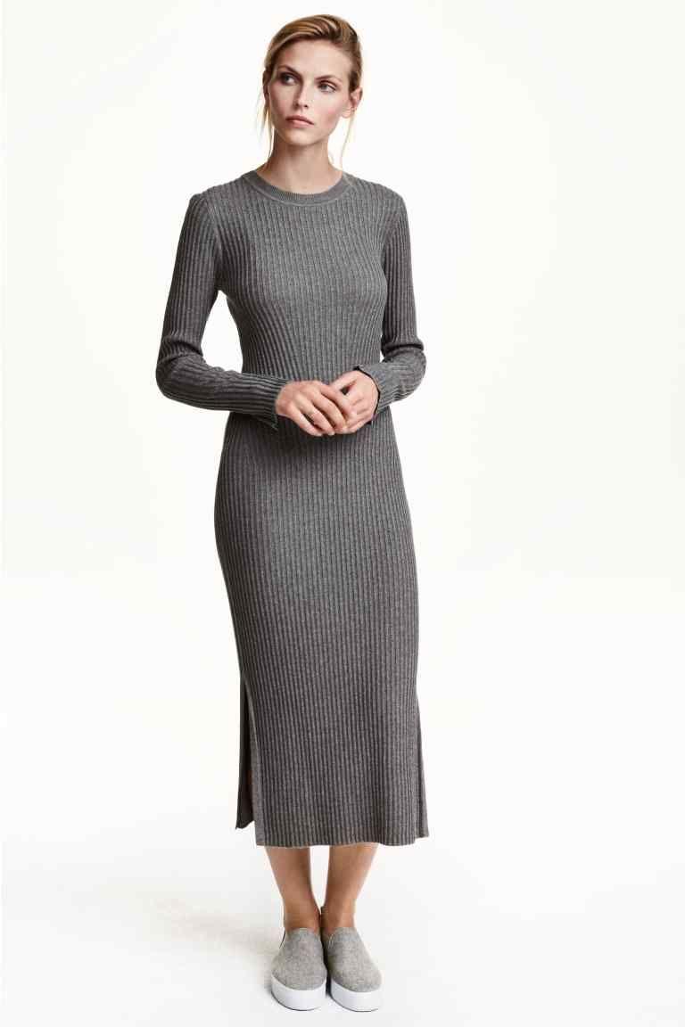Vestido de canalé | H&M | Canalé | Pinterest | Vestidos, Vestidos ...