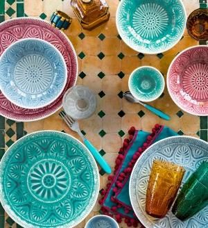 Enjoyable Dishes Colorish Tableware Moroccan Inspiration Tableware Download Free Architecture Designs Lukepmadebymaigaardcom