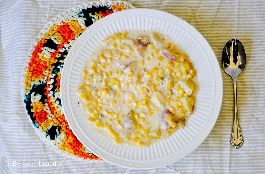 summer corn chowder... with no celery
