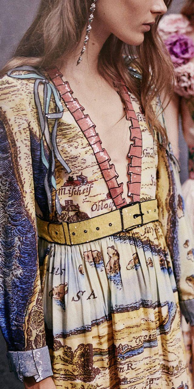 Gucci Women Carte De Tendre Print Dress 426307zgk497872
