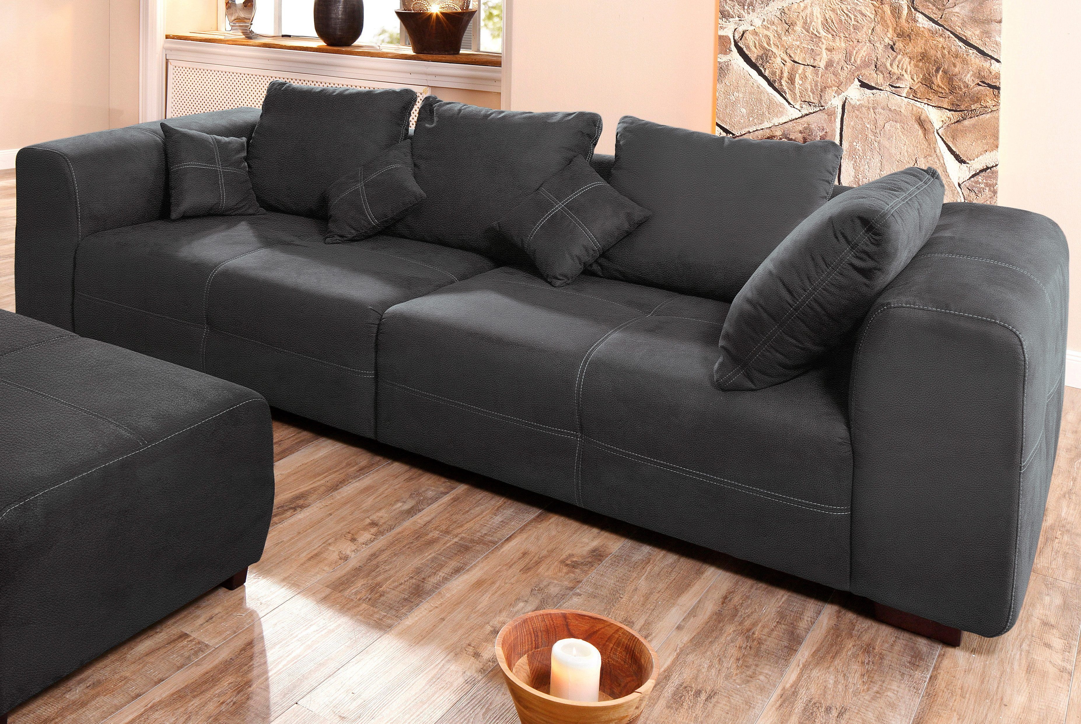 premium collection by home affaire big-sofa schwarz, »maverick ... - Wohnzimmer Sofa Schwarz