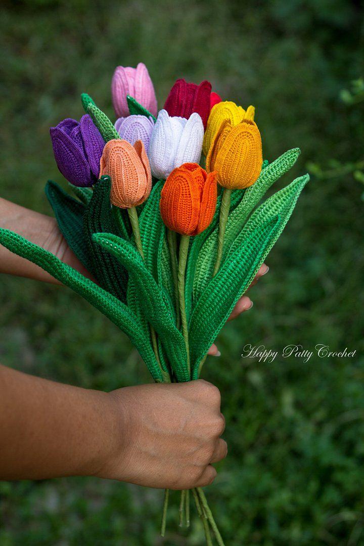 Single Late Tulip Flower pattern by Happy Patty Crochet | gehäkelte ...