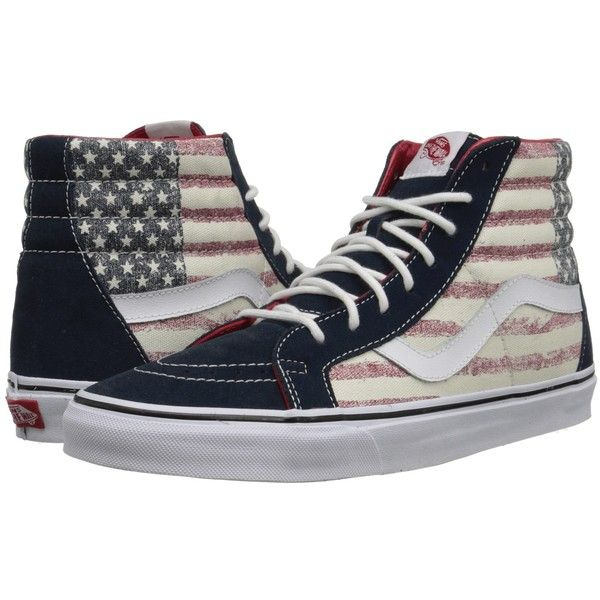 965cf6e5bd Vans SK8-Hi Reissue Windsor Wine Blanc) Skate Shoes ( 65) ❤ liked on  Polyvore featuring shoes