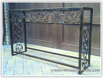 Image Result For Wrought Iron Table Base From Stair Parts