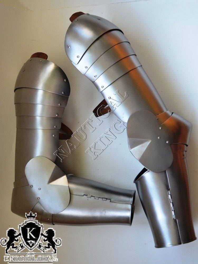 Pin On Full Arm Protection Medieval Knight Armour With Roundels 18 Gauge Reenactment Re