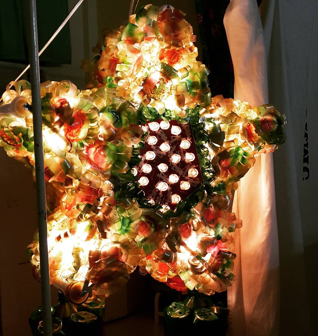 I Just Opine Blog Archive Christmas Decorations Out Of Recycled Materials Christmas Parol Diy Christmas Parol Recycled Parol