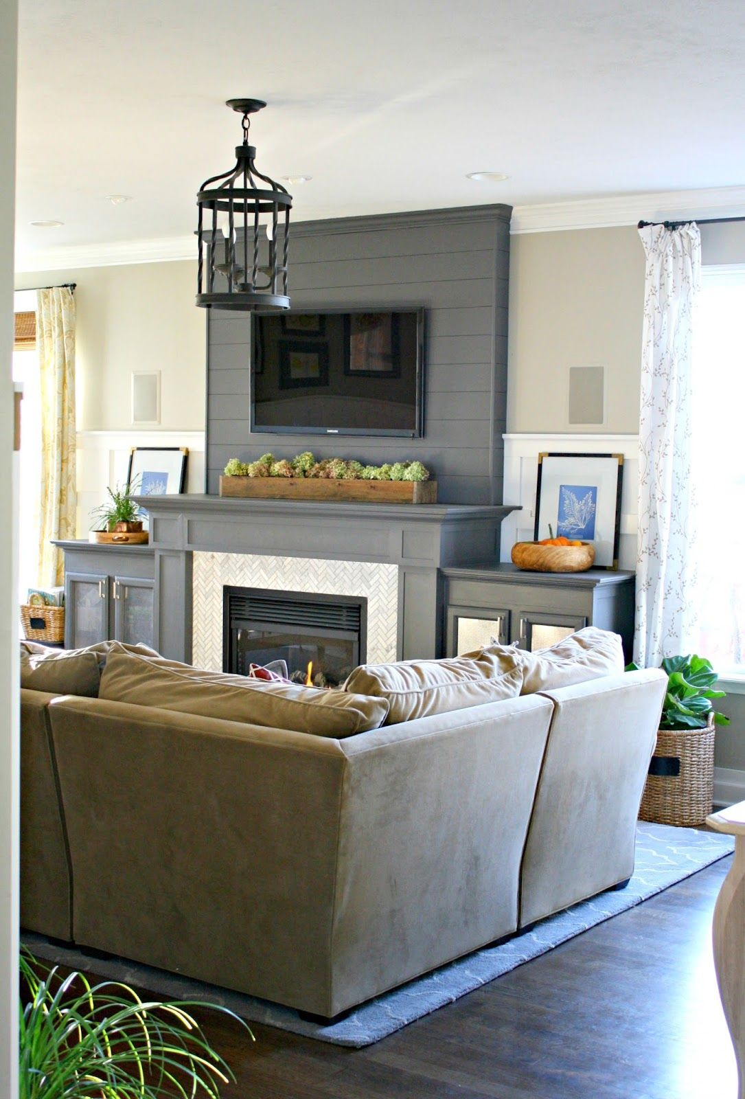 Our home decor living spaces tv over fireplace decor - Pictures of decorated living rooms ...