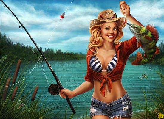 Женщина на рыбалке картинки прикольные, какой картинки супер