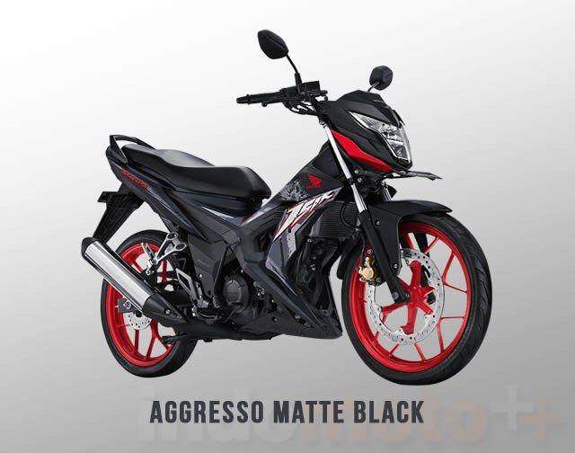Honda Sonic 150r Warna Aggresso Matte Black Hitam Doff