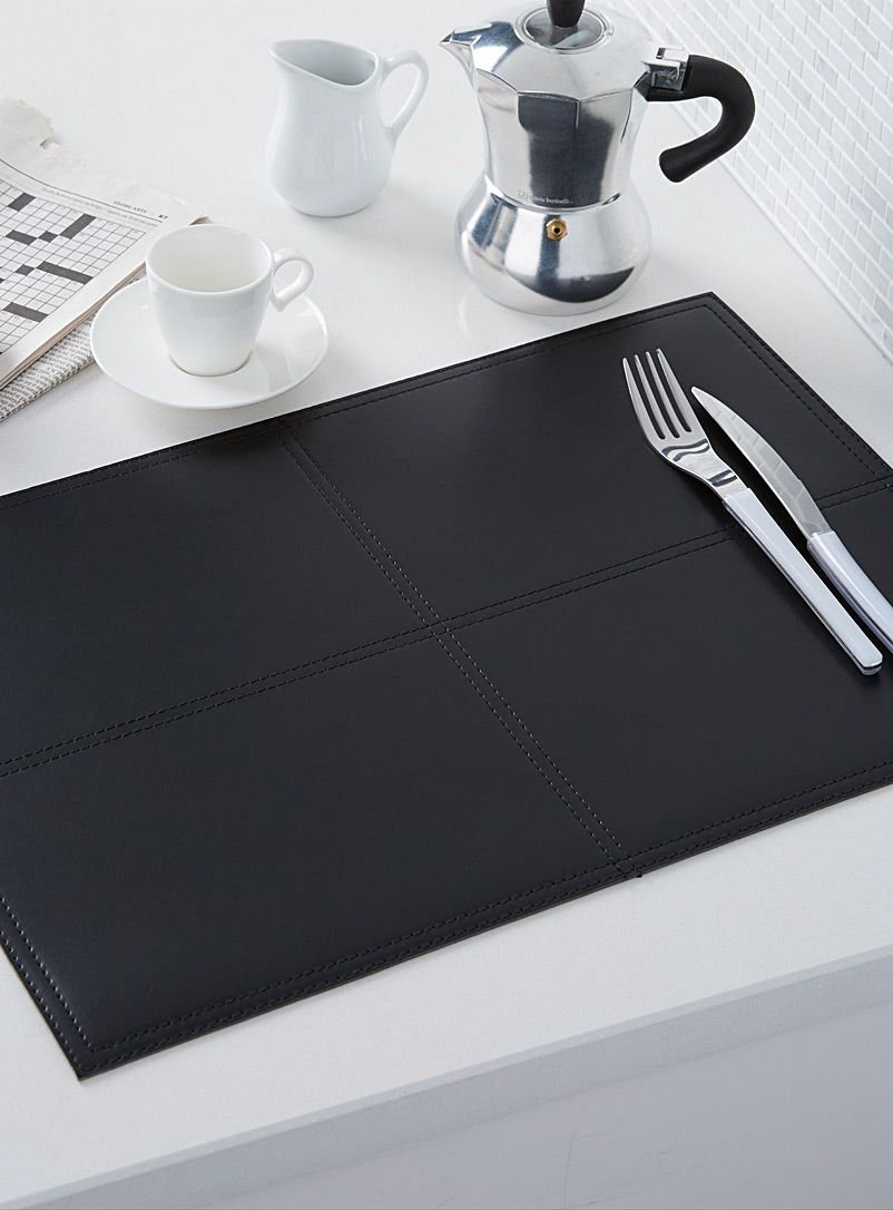 Faux Pique Leather Placemat Placemats Cleaning Wipes Placemates