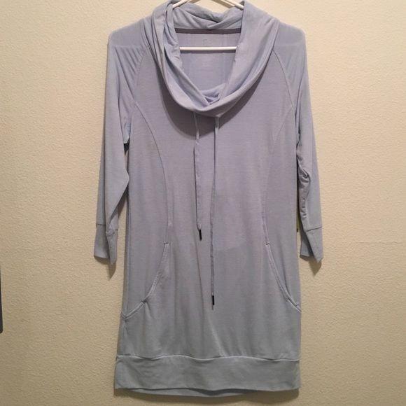 Blue dress 3 4 sleeve athletic shirt