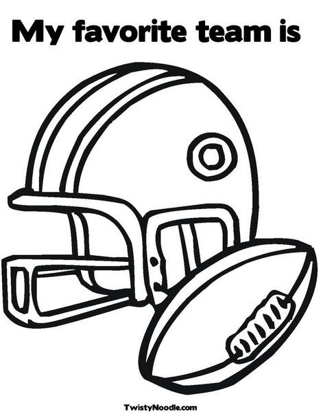 My Favorite Team Is Coloring Page Football Coloring Pages Sports Coloring Pages Coloring Pages For Kids