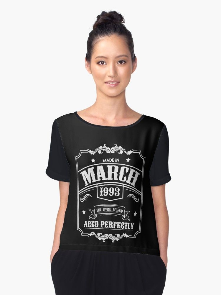 30d6410153 This Born in March 1993 product features a couple original funny quotes  such as the living legend, made in March, and aged perfectly. This is an  awesome ...