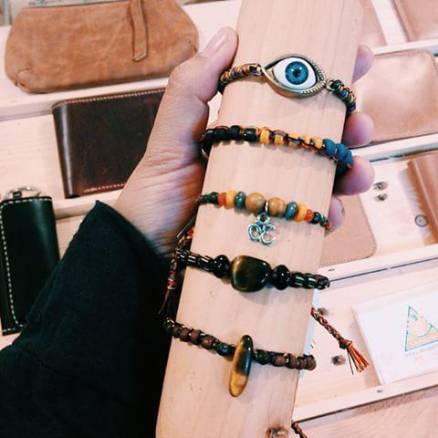 Men bracelets now available @rideincstore jl.diponegoro 19 malang (samping bakso bakar pak Man) • #labdagatic #handmade #jewelry #accessories #menbracelet #bracelet #glassbeads #tigereyestone #om #evileye #popethnic #indonesia #malang #localbrand #localbrandinvasion #hippies #jualgelang #bohemian #jasper #vscocam #vsco