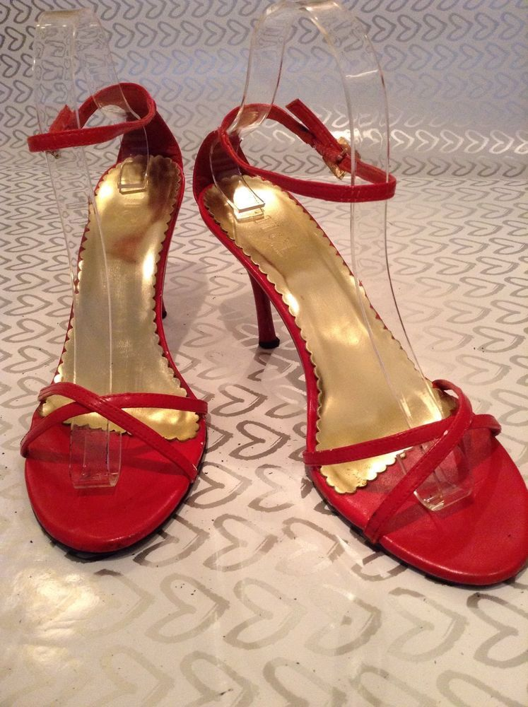 3fca0bc2b619 Rouge Helium Red Strappy High heels size 8.5