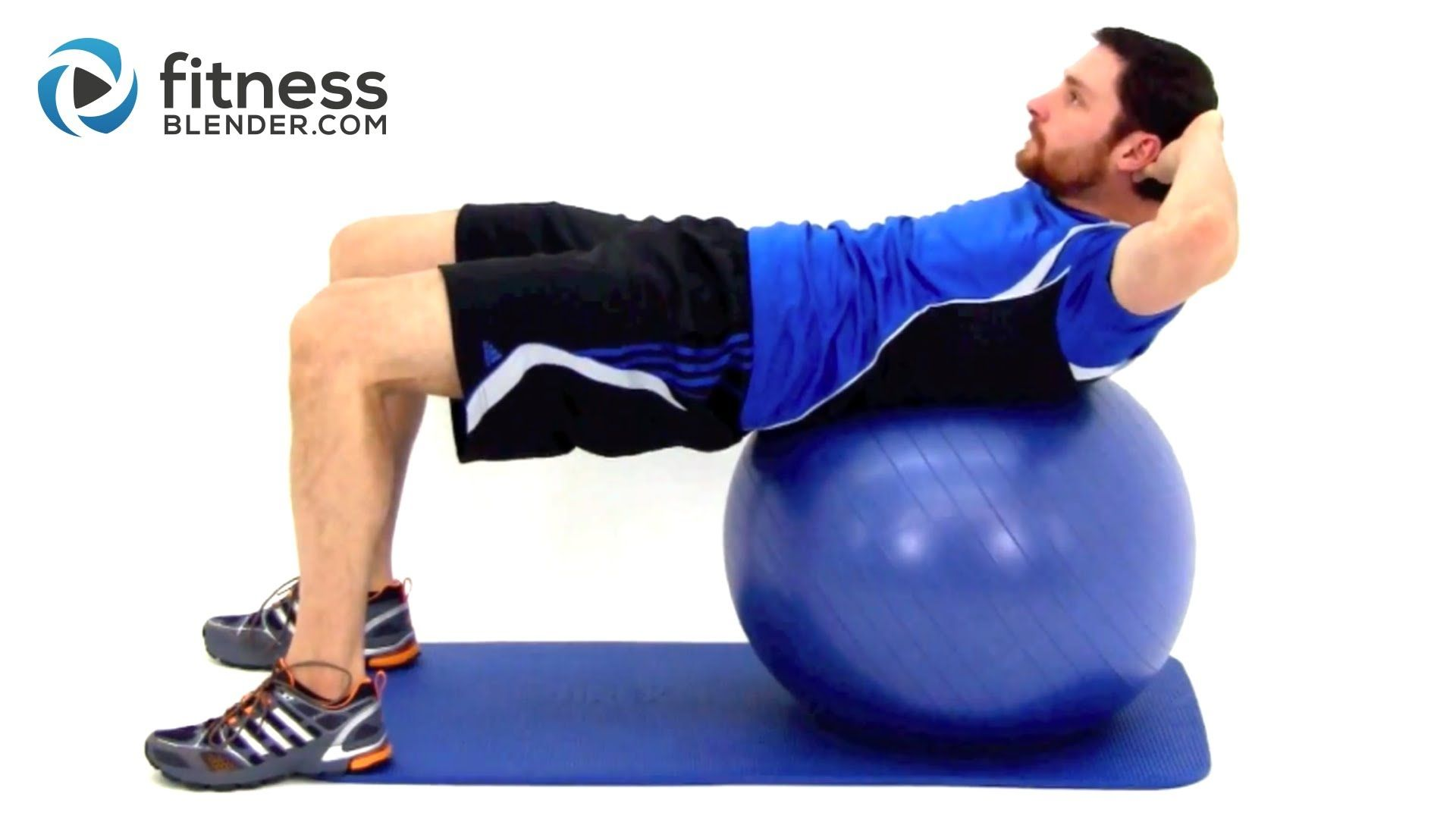 Challenging Exercise Ball Ab Workout - Physioball Workout for the Core #exerciseball