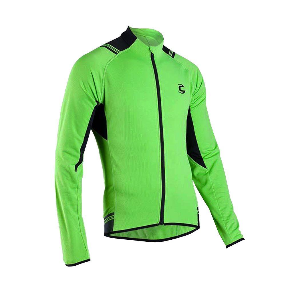 Jerseys 56183  2016 Cannondale Midweight Performance Long Sleeve Jersey -  Green 84c4474e3