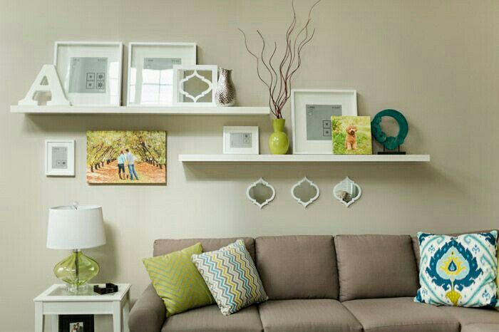 Pin By The Proof Photography On Bildiğin Koltuk Living Room Decor Rustic Floating Shelves Living Room Living Room Wall