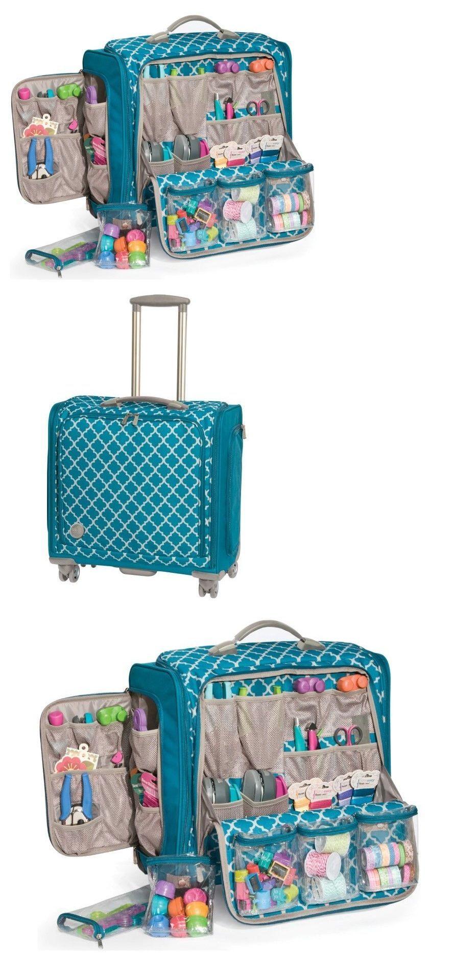 67d7c6c8d4 Scrapbooking Totes 146401  Craft Tote Bag Sewing Supplies Organizer Case  Wheels Storage Large Crafts Bag
