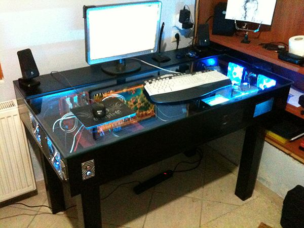 Custom Gaming Desk Google Search Pc Cases Meuble Bureau