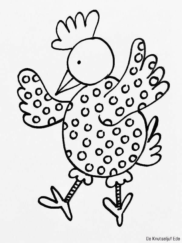 Design: De Knutseljuf Ede - Kippen kleurplaten | Kippen kippetjes ...