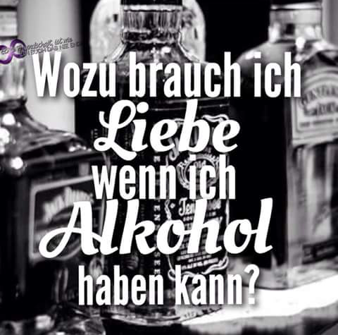 Wozu Brauch Ich Liebe Wenn Ich Alkohol Haben Kann Mini Sprüche