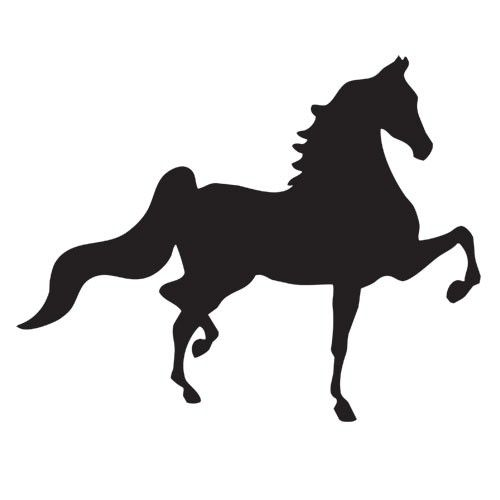 Pumpkin stencil saddlebred
