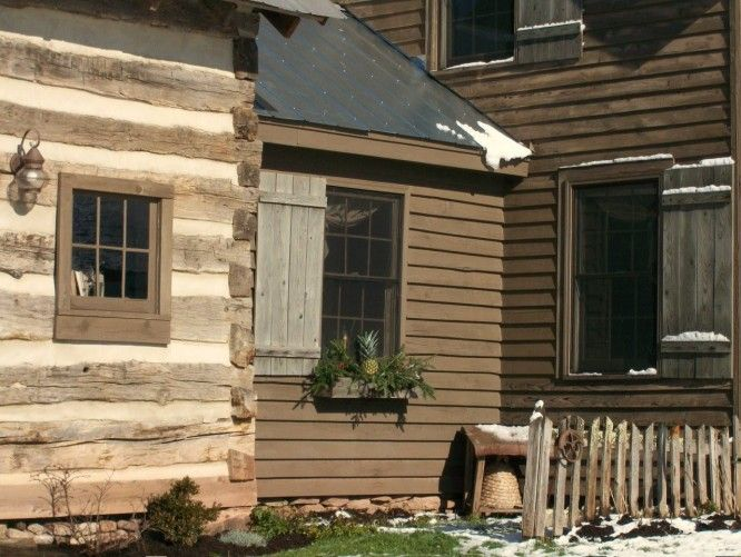 My Very Favorite Part Colonial And Part Log Cabin With