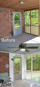"""Rach Makes: Rach Makes a """"New"""" Screened Back Porch. Before and after. Makeover"""