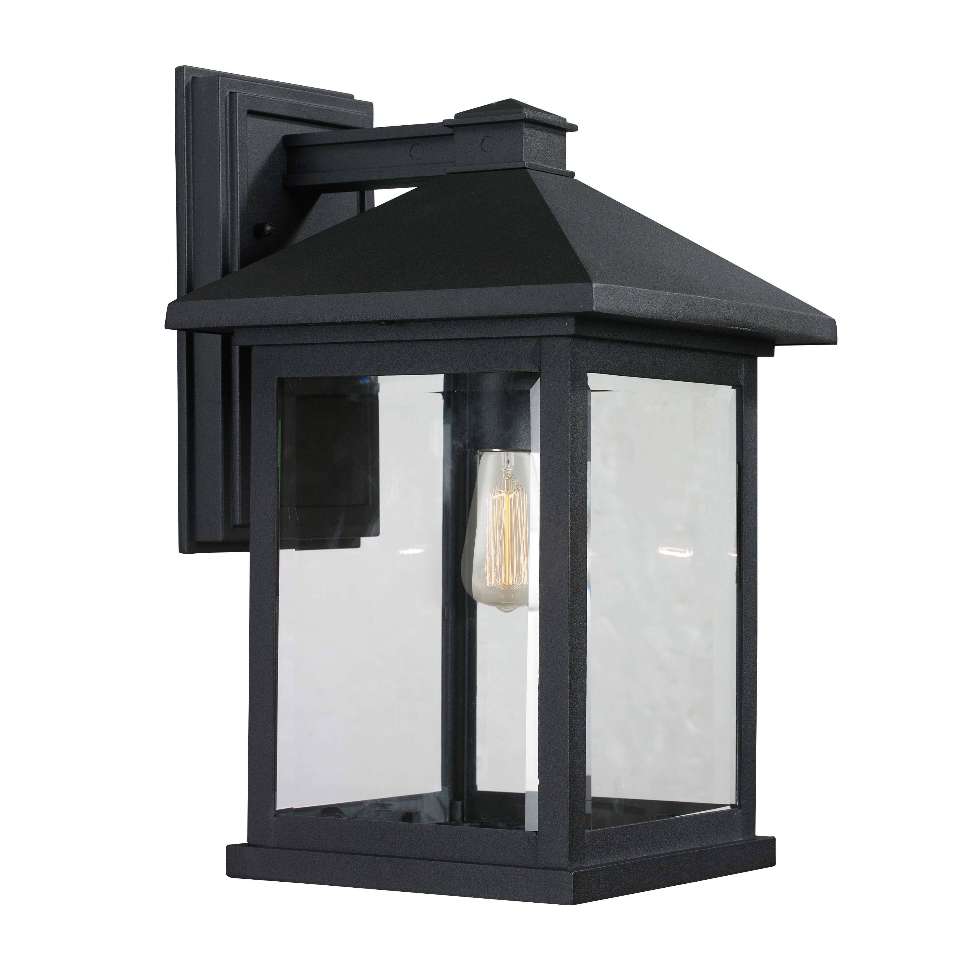 Avery home lighting portland light matte black outdoor wall light