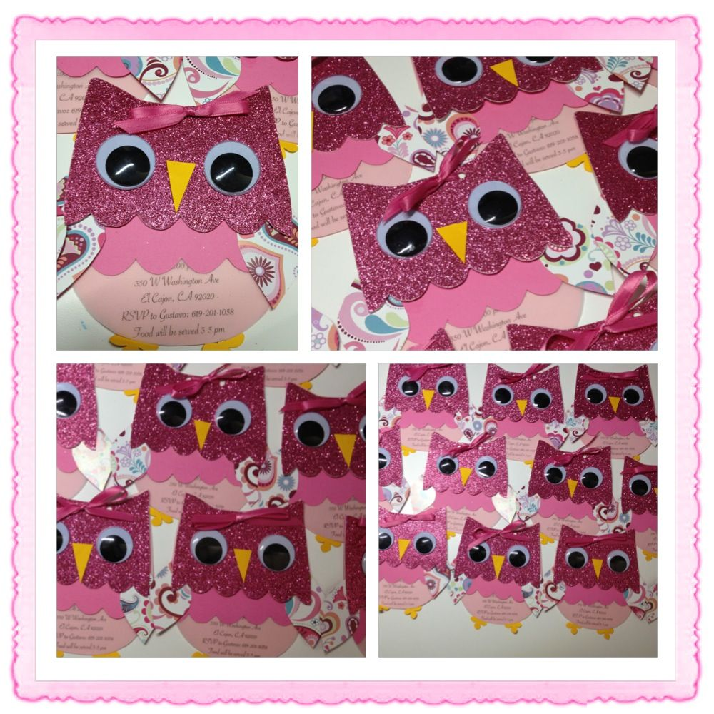Owl Invites - 1st Birthday invitations I made for my sweet little ...