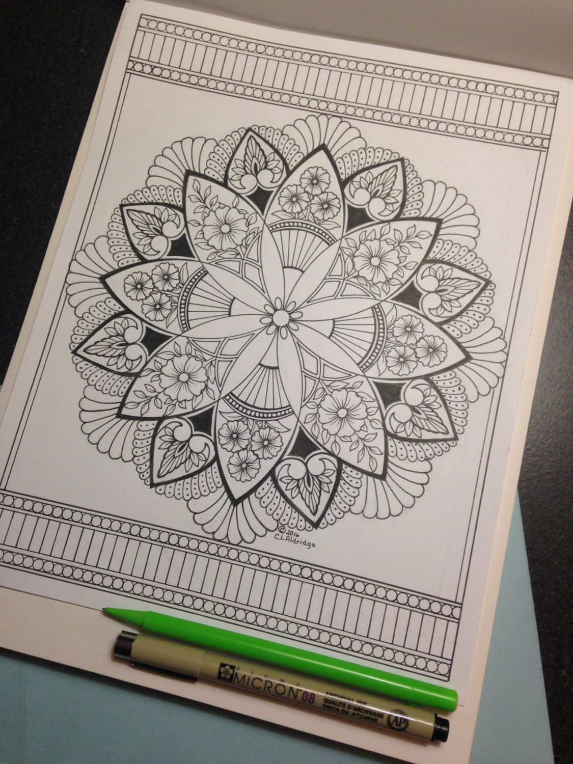 Ornamental Flower Garden 009 Full Page Edition Coloring Page