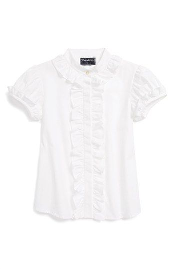 Oscar de la Renta Ruffle Blouse (Toddler Girls, Little Girls & Big Girls) available at #Nordstrom