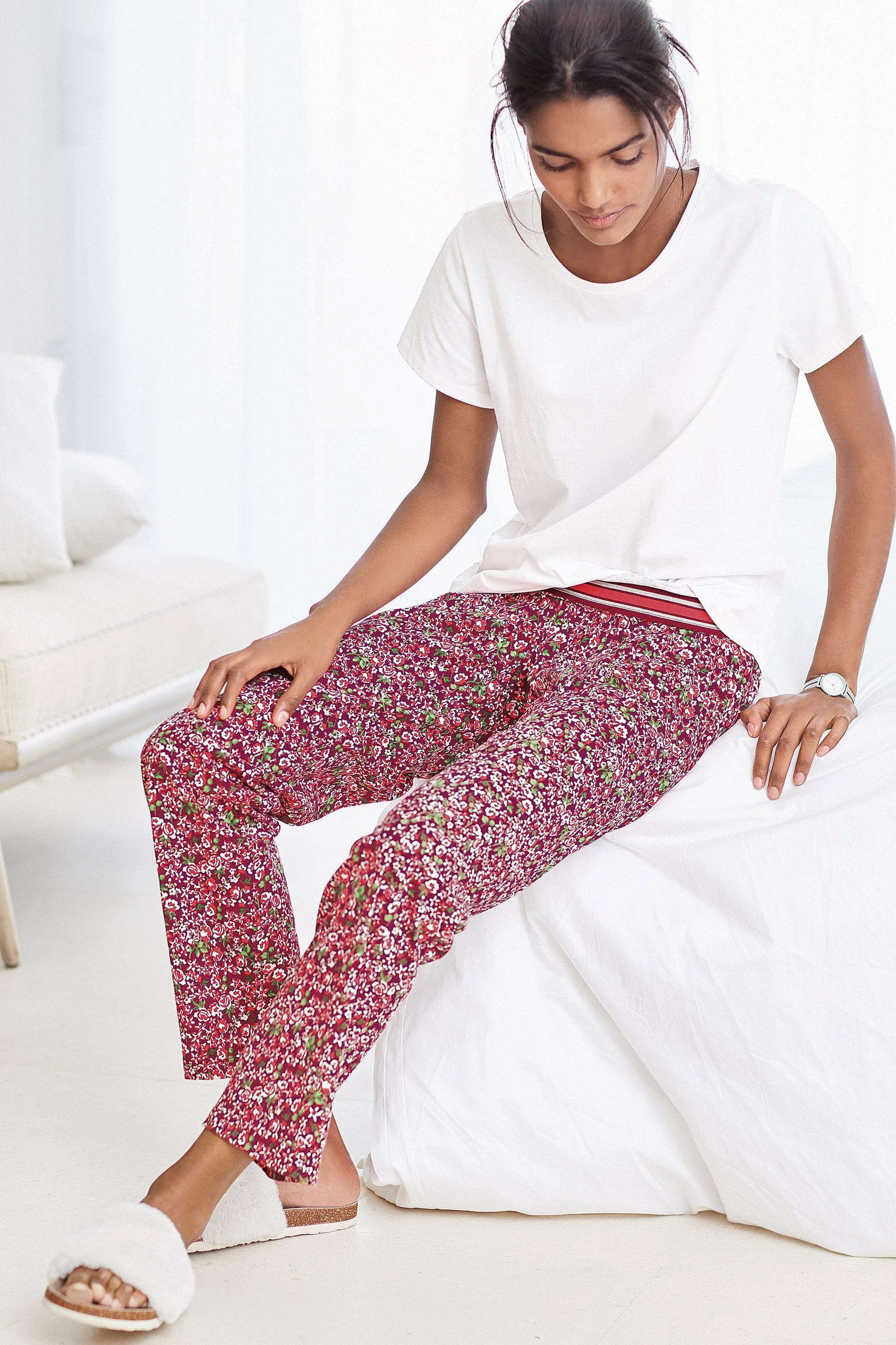 7a0e72bfd08 Buy White/Pink Floral Jersey Pyjamas from the Next UK online shop ...