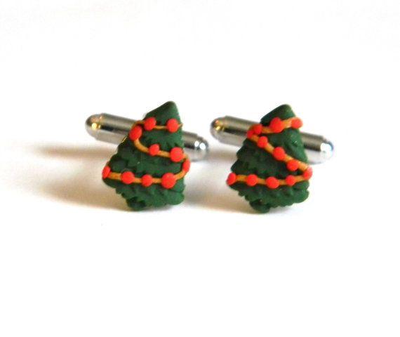 Albero di Natale gemelli - vacanza accessori - fatti a mano con fimo - regali unici sotto i 15, 20, 25