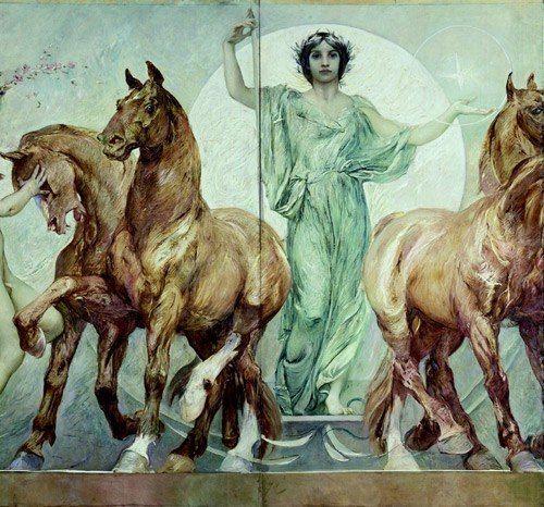 Джулио Аристид Сарторио (1860-1932) фриз в зал Дома Депутатов | 28 фотографий