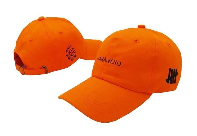6cecd1f0daa8a Anti Social Social Club x Undefeated Paranoid Dad Cap! Catchy Orange! Two  color options