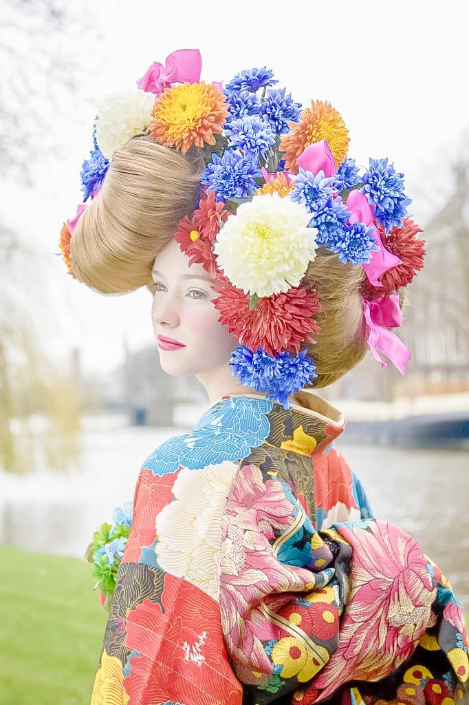 Mame-Chiyo | Jeux de couleur, S'habiller, Fleur cheveux