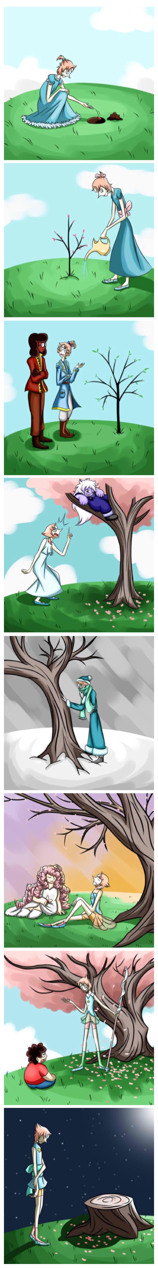 Pearl's tree | I DID NOT NEED TO EXPERIENCE FEELINGS OVER A FREAKING TREE THANKS