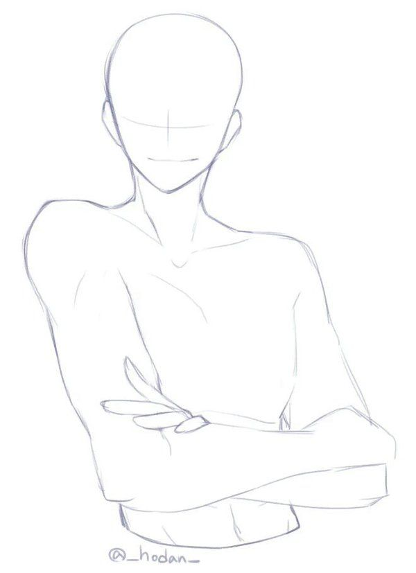how to draw anime male body side view