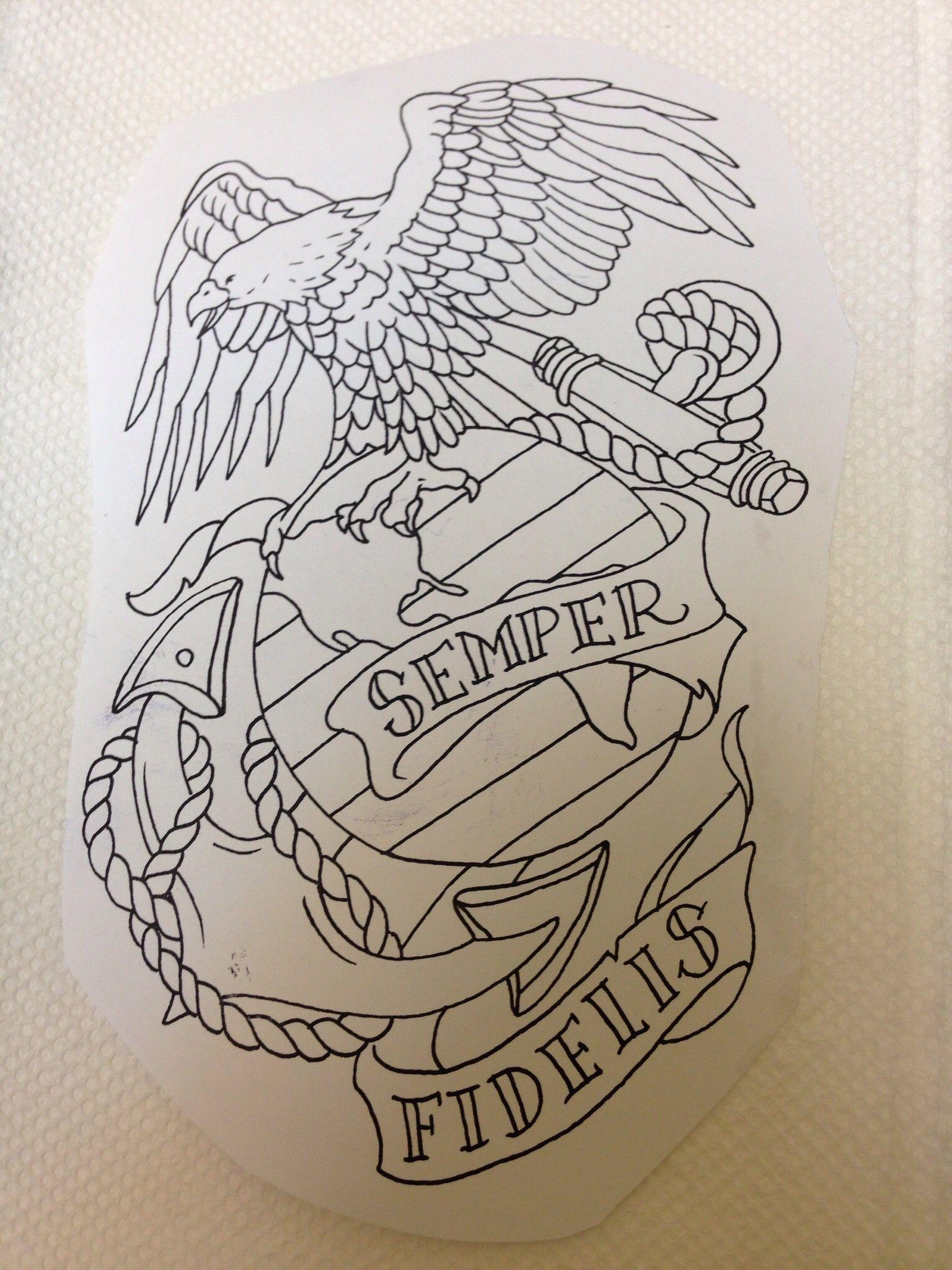 Fi fireman tattoo designs - Usmc Print Usmc Tattoosmarine Tattootatoossemper Fimarine