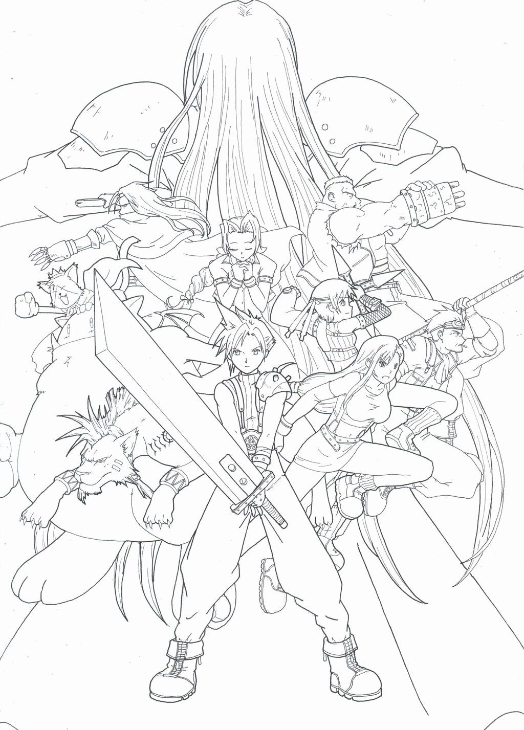 Pin En Anime Coloring Pages Ideas Printable [ 1427 x 1024 Pixel ]