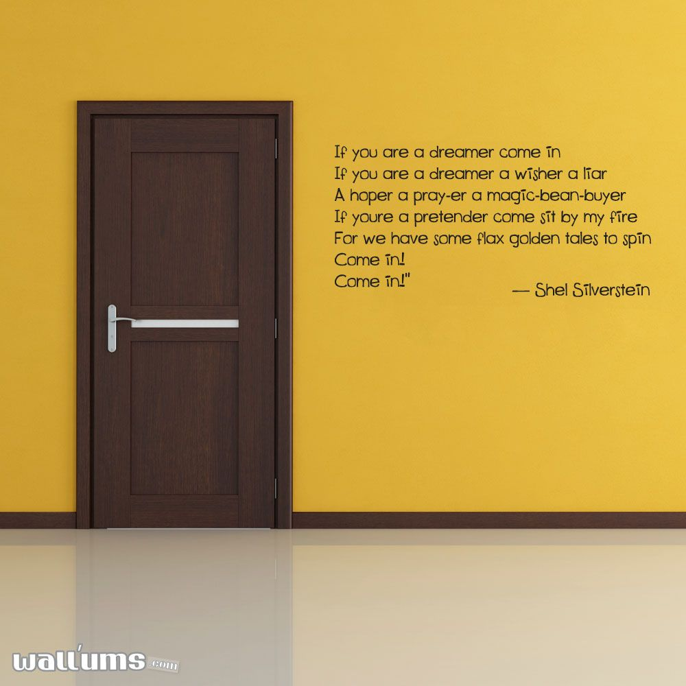 If You Are A Dreamer Come In... Vinyl Wall Decal | Wall decals ...